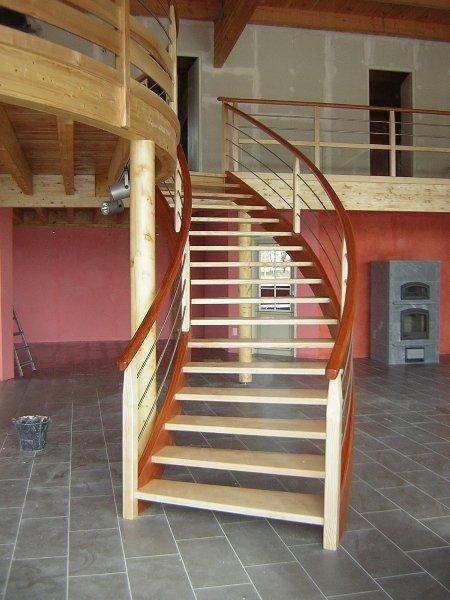 escaliers bois et tubes inox menuiserie raguet blain escaliers lambris parquet bardage. Black Bedroom Furniture Sets. Home Design Ideas