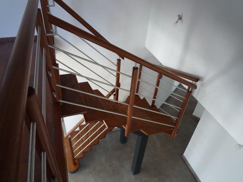 Escaliers bois et tubes inox | Menuiserie Raguet Blain – Escaliers ...