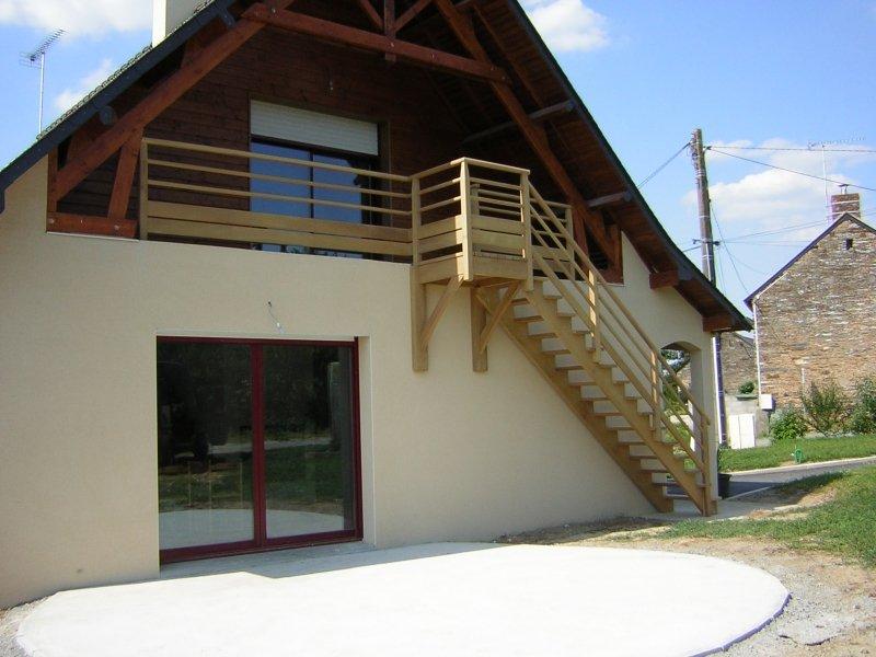 Escalier Bois Exterieur : Escalier+Exterieur+Bois Escalier tout bois Menuiserie Raguet Blain